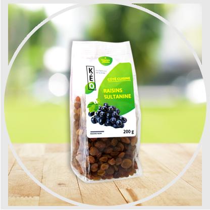 Raisins sultanine