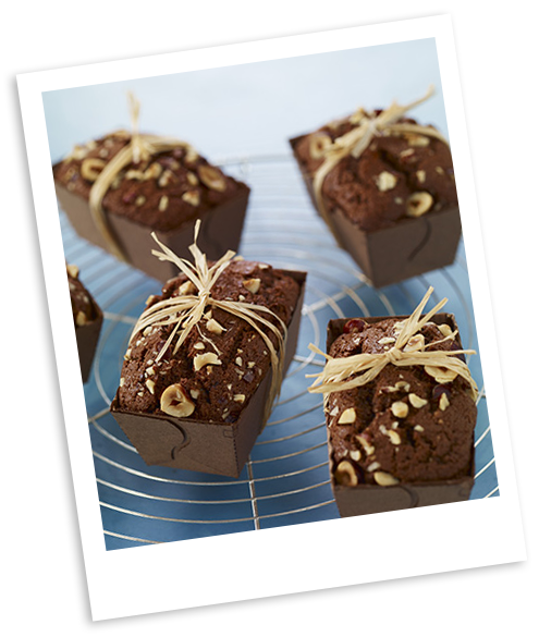 Mini cakes chocolat noisettes