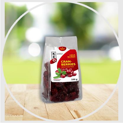 Cranberries déshydratées