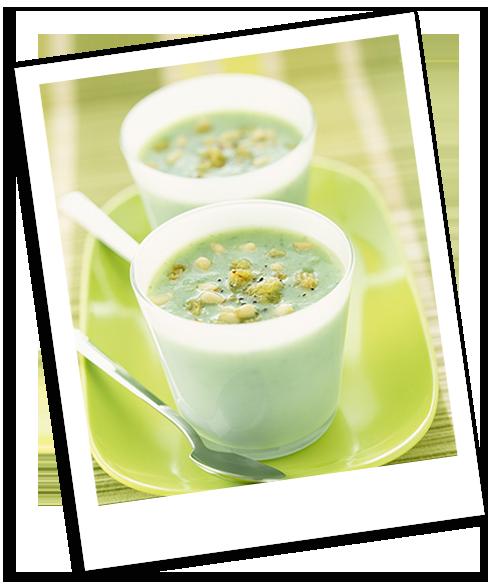 Soupe de concombre aux pignons