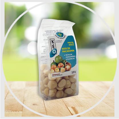 Noix de macadamia sans sel ajouté
